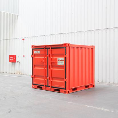 zijkant kleine container zegwaard containerverhuur