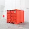 zijaanzicht zegwaard container